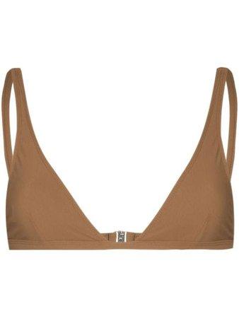 Totême triangle-cup bikini top - FARFETCH