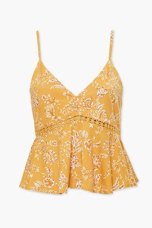 Floral Crochet-Trim Cami   Forever 21