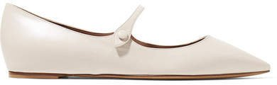 Hermione Leather Point-toe Flats - Ivory
