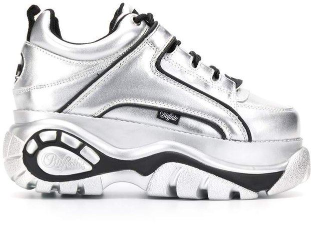 chunky metallic sneakers