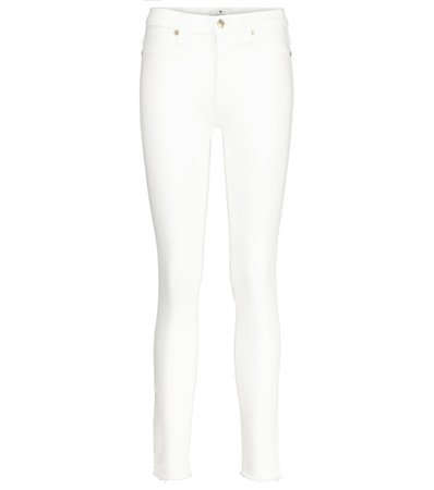 7 For All Mankind - The Skinny Slim Illusion high-rise jeans | Mytheresa