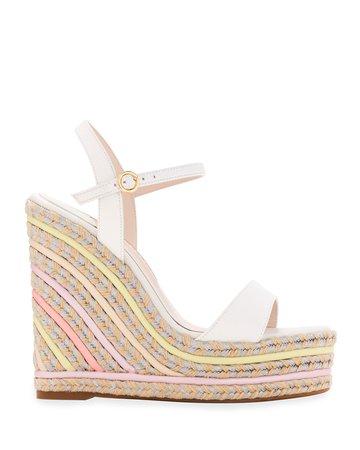 Sophia Webster Lucita Multicolored Wedge Espadrille Sandals
