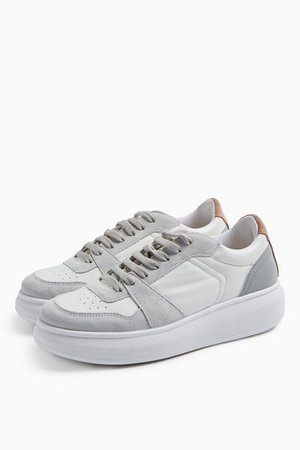 COLUMBIA Gray and White Sneakers | Topshop