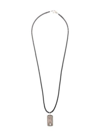 Shop silver Nialaya Jewelry cross tag necklace with Express Delivery - Farfetch