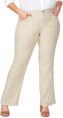 Stretch Linen Blend Trousers