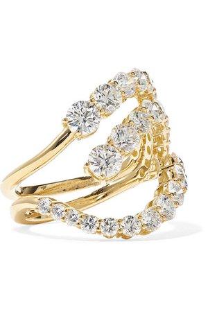 Melissa Kaye   Aria Skye 18-karat gold diamond ring   NET-A-PORTER.COM