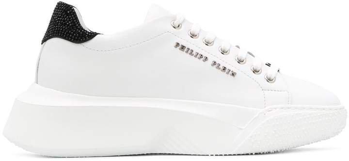 Crystal low-top sneakers