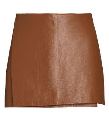 Dodo Bar Or Celia Leather Wrap Mini Skirt | INTERMIX®