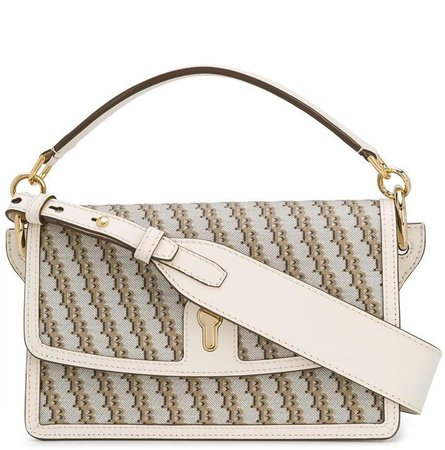 monogram print shoulder bag