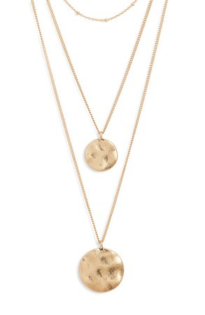 BP. Layered Double Disc Necklace | Nordstrom