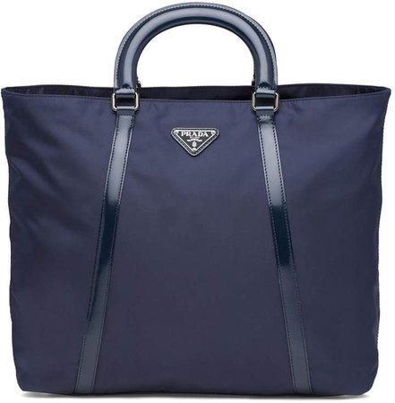Medium nylon and leather tote