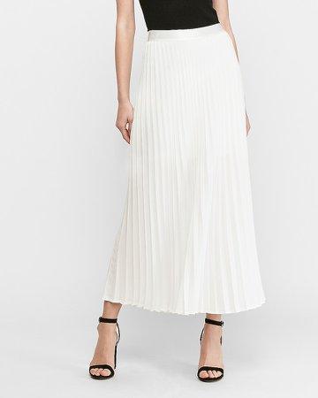 High Waisted Pleated Maxi Skirt