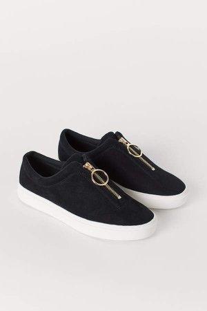 Sneakers with Zip - Black