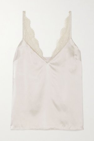 Ivory The Arianna lace-trimmed silk-charmeuse camisole | Cami NYC | NET-A-PORTER