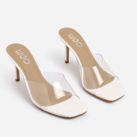 Heeled Mules: Perspex & Peep Toe Mules | EGO Shoes