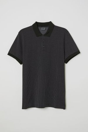 Dotted Polo Shirt - Dark blue/white dotted - Men | H&M US