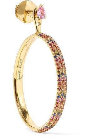 Yvonne Léon | 18-karat gold sapphire earring | NET-A-PORTER.COM