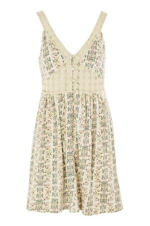 Crochet Printed Sundress - Dresses - Clothing - Topshop