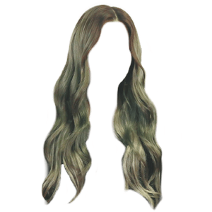 brown hair with a green tint to it png