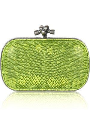 Lime green Lizard Knot clutch | Bottega Veneta | NET-A-PORTER