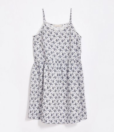 Plus Floral Lacy Strappy Swing Dress
