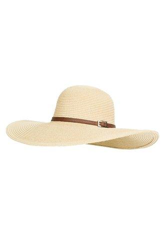 Jemima Wide Brim Beach Hat Cream   Melissa Odabash