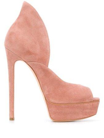 Pink Casadei peep toe 150 platform sandals 1H791R1401CAMOS - Farfetch