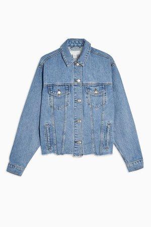 Raw Hem Oversized Denim Jacket | Topshop