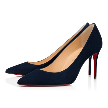 KATE 85 BLUE VEAU VELOURS - Women Shoes - Christian Louboutin