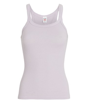RE/DONE Ribbed Cotton Tank Top | INTERMIX®