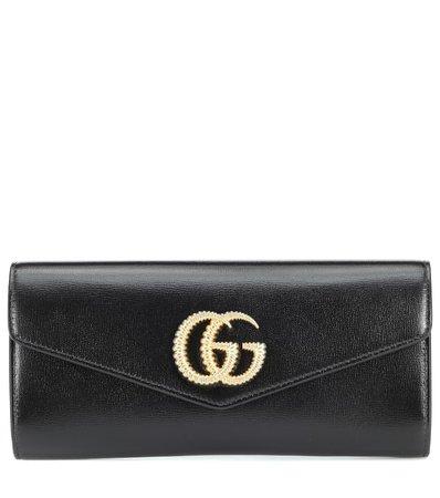 Gucci - Broadway leather clutch   Mytheresa