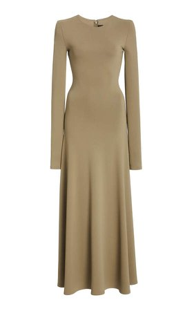 Brandon Maxwell Knit Maxi Dress