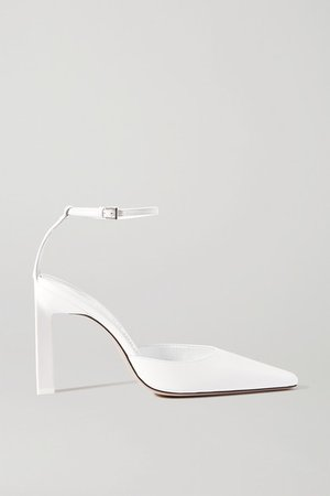 Leather Pumps - White