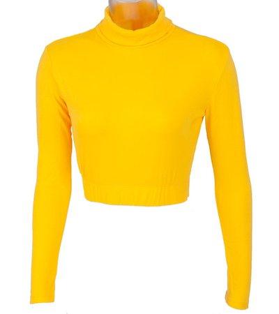Yellow turtleneck