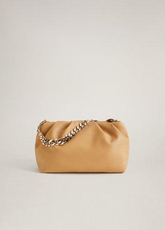 mango chain puff bag