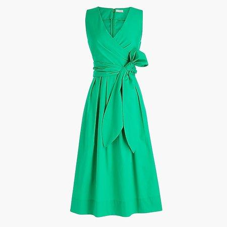 Wrap-top shirtdress in organic cotton - Women's Dresses | J.Crew
