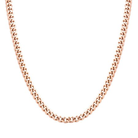 rose gold cuban link chain necklace