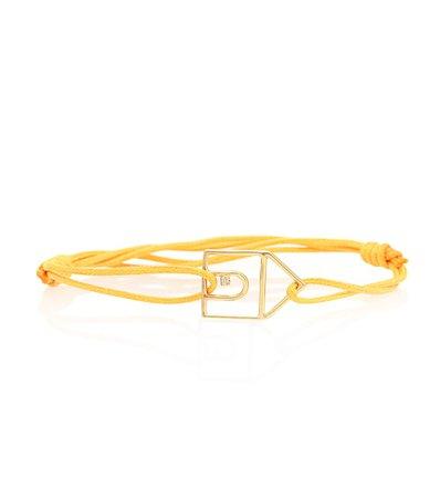 Aliita - Casita Brillante 9kt cord bracelet with gold and diamond | Mytheresa