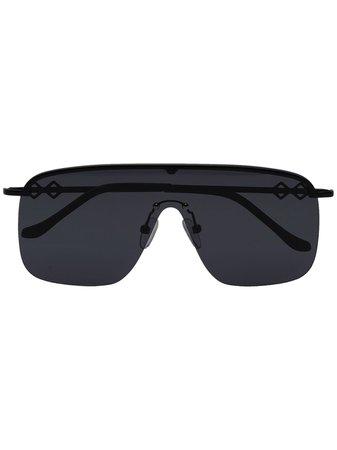 Karen Wazen AMIRA Aviator Sunglasses AMIRA Black   Farfetch