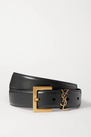 Black Leather belt | SAINT LAURENT | NET-A-PORTER