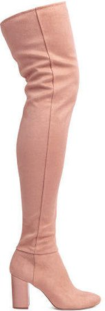 Thigh boots - Pink