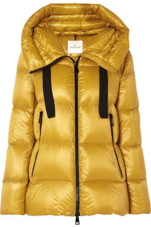 Quilted Shell Down Jacket - Yellow