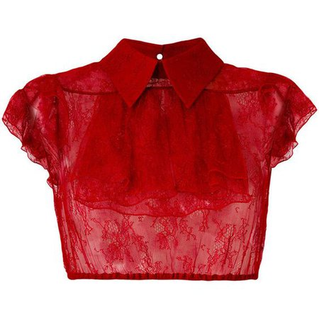 Nº21 cropped sheer shirt