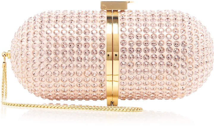 Marzook Swarovski Crystal Pill Clutch