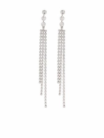 Isabel Marant crystal-embellished Drop Earrings - Farfetch