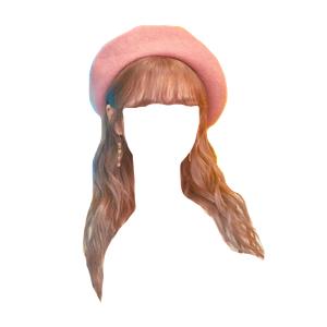 brown hair bangs png hat