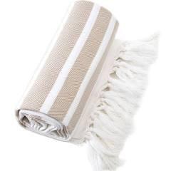 tan beach towel