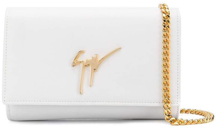 small logo clutch bag
