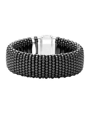 Lagos Black Caviar Ceramic Rope Bracelet