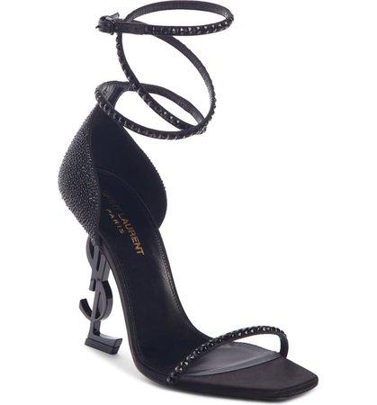 Saint Laurent Opyum Ankle Wrap Sandal (Women)   Nordstrom